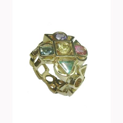 Multi-stone dress ring