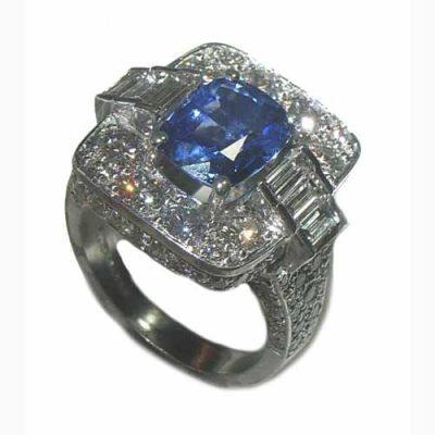 Sapphire and diamond multi-stone dress ring