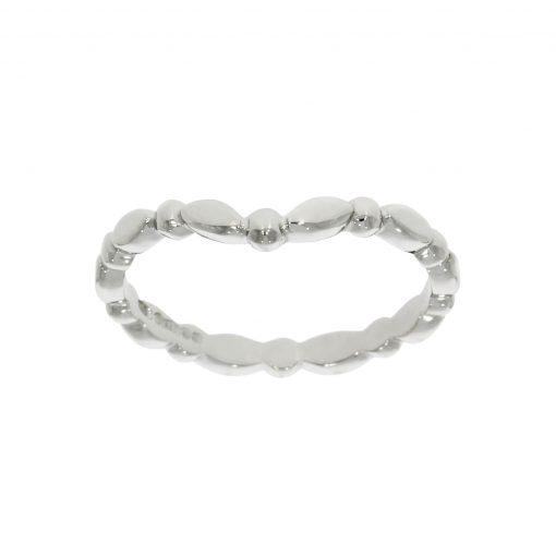 A bobbled ball platinum women's wedding ring with no stones / diamonds