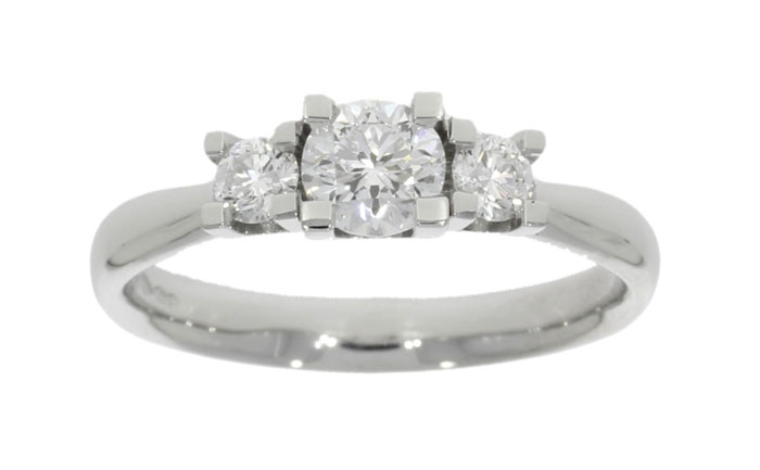 bespoke three 3 stone wylde flower diamond engagement ring