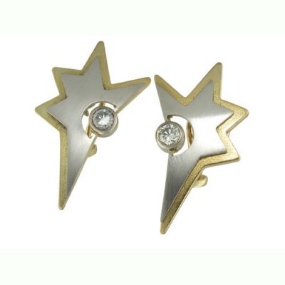 Star diamond set earrings