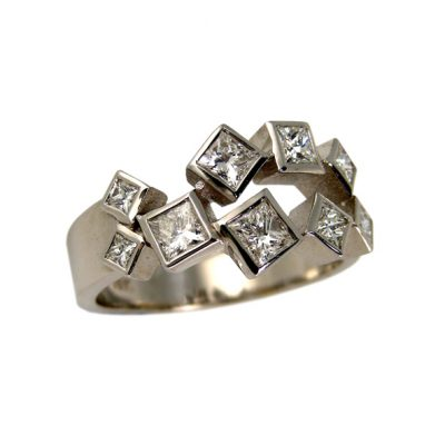 Diamond chunky ring