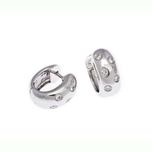 Diamond set hoop earrings