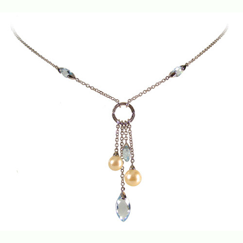 Blue pearl pendant