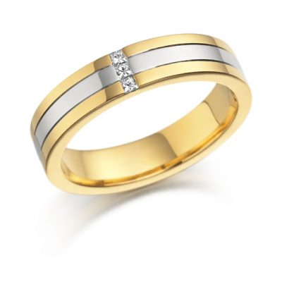 Gold diamond set ring