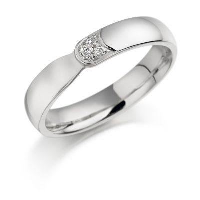 Gold single stone diamond ring