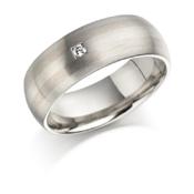Gold inlayed single diamond ring