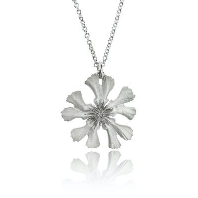 sustainable sterling silver flower of bristol wylde necklace