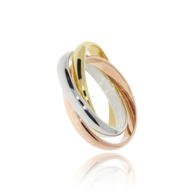 Russian yellow white and rose gold wedding ring closest to pride colours