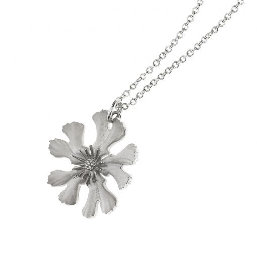 lychnis chalcedonica bristol flower charity sustainable silver necklace
