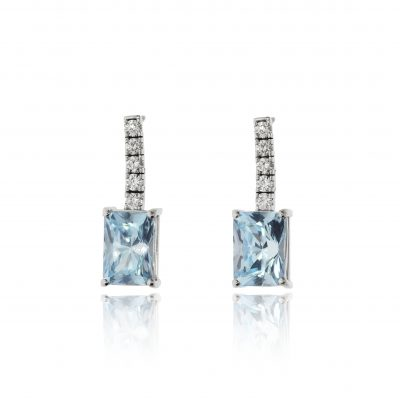 topaz diamond earrings drops studs white gold statement earrings