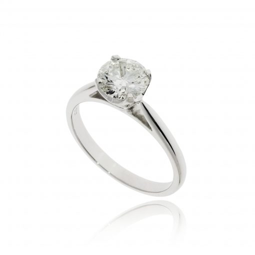 Big diamond engagement ring classic traditional timeless in four claws