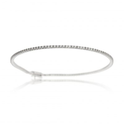 diamond tennis bracelet 18ct white gold diamond bracelet