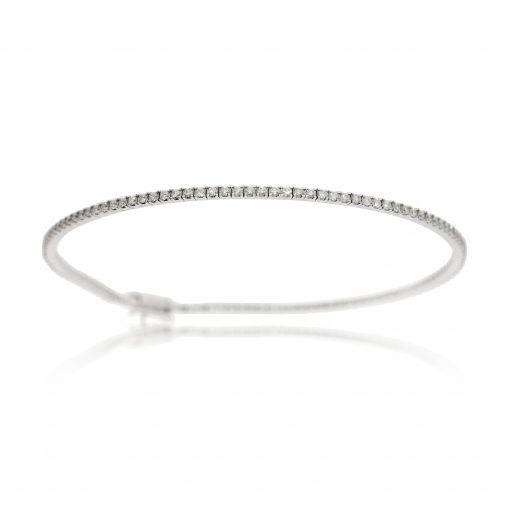 diamond tennis bracelet 18ct white gold diamond bracelet