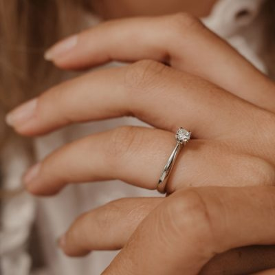 diamond ring engagament ring solitaire platinum white metal four claw w collection wylde flower