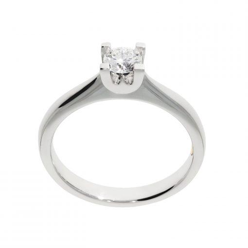 white metal platinum ring solitaire wylde flower diamond