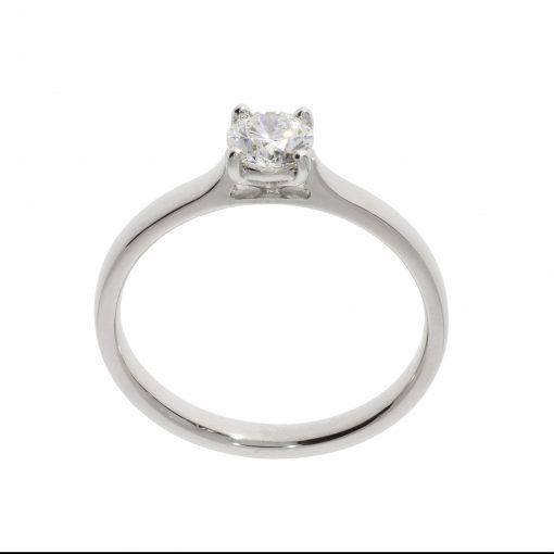 diamond platinum egagement ring round brilliant claws set half carrot