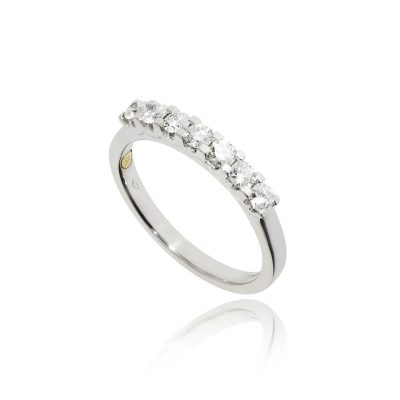 seven stone diamond eternity white gold white metal diamond ring