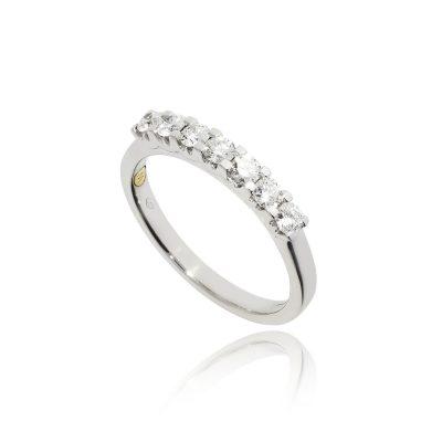 seven stone diamond eternity white gold white metal diamond ring