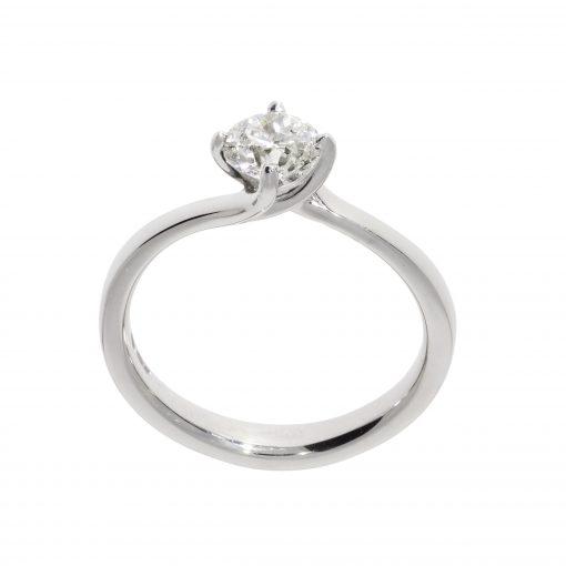 unusual ring diamond engagement platinum solitaire