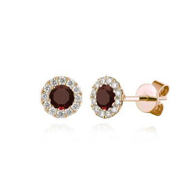 birthstone january granet earrings