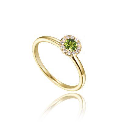 birthstone peridot ring